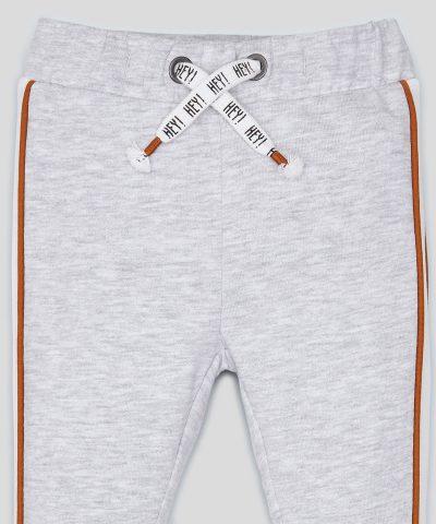Спортен ватиран панталон в сив цвят за момчета
