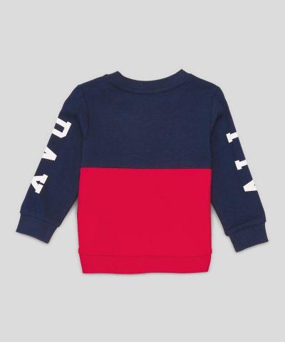 Бебешка ватирана блуза Play от био памук за момче