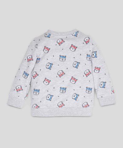 Ватирана блуза с тигърчета за бебе момче