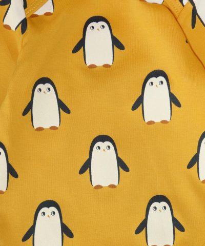 Боди с пингвини от био памук за бебе