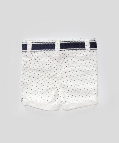 Къси панталонки в бяло и тъмносиньо
