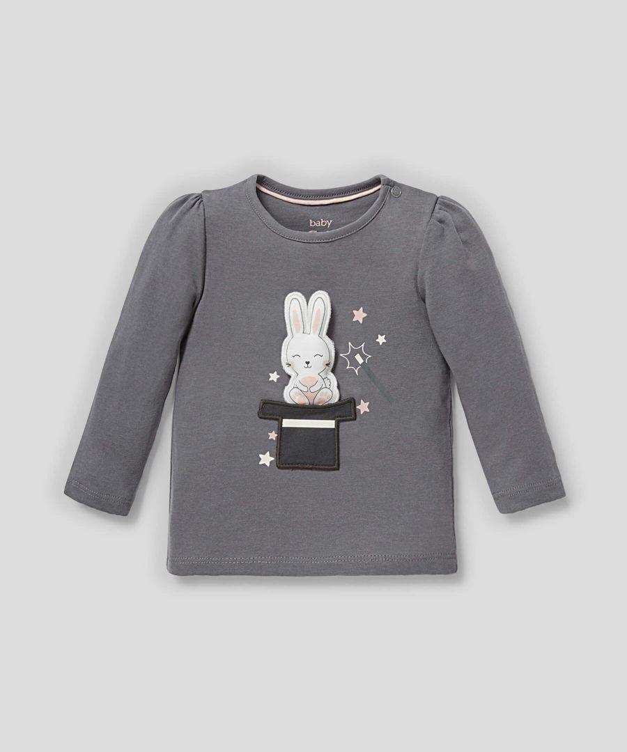 Блуза със зайче от био памук