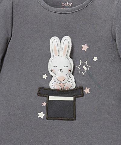 бебешка блуза със зайче от био памук