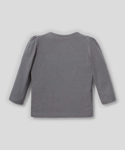Блуза със зайче от био памук за момиченце