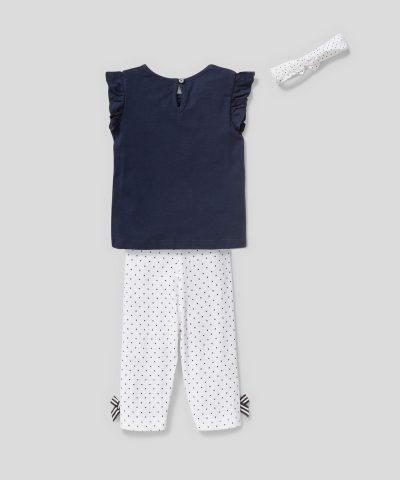 Бебешки и детски комплект I love you от био памук