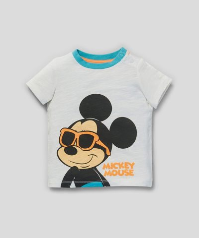 Комплект Мики Маус с очила от био памук за бебета и деца