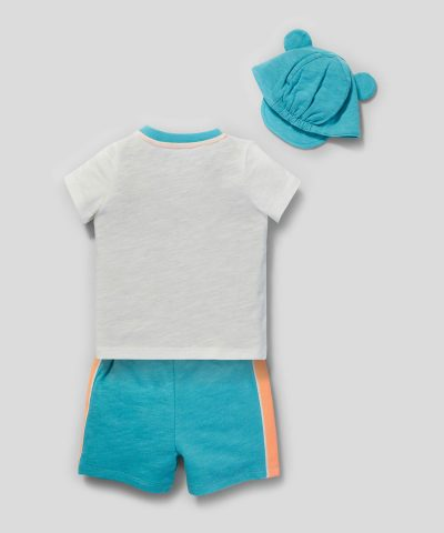 Бебешки и детски комплект Мики Маус с очила от био памук