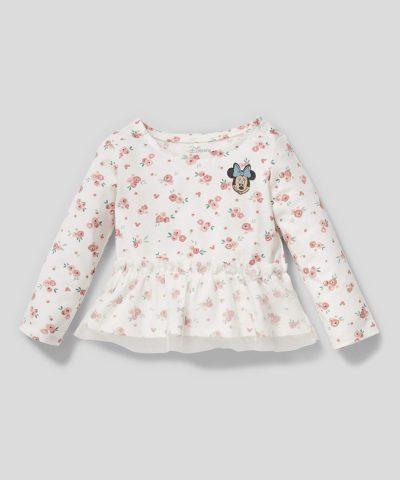 Комплект Мини Маус от био памук за бебе момиче