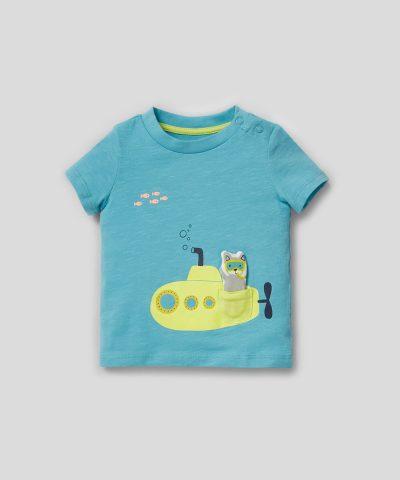 Комплект морско дъно от био памук за момченца