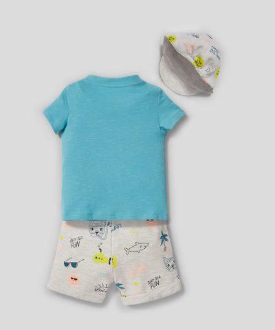 Бебешки и детски комплект морско дъно от био памук
