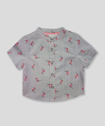 Комплект с фламингота в сив цвят