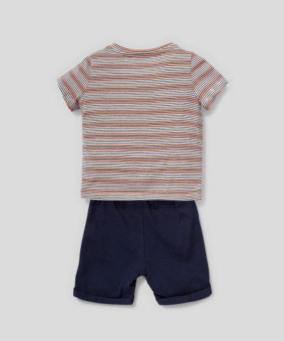 Бебешки и детски летен комплект Мики Маус от био памук