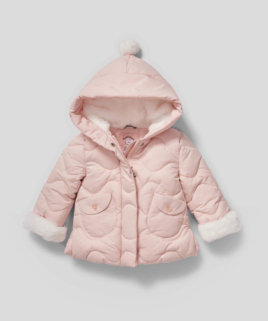 Палтенце в бледорозов цвят