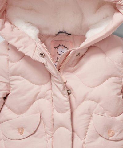 Палтенце в бледорозов цвят за бебета и деца