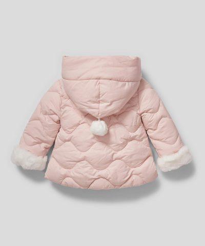 бебешко и детско палтенце в бледорозов цвят