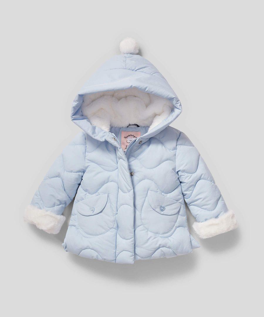 Палтенце в светлосин цвят