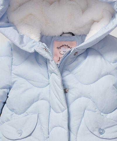 Палтенце в светлосин цвят за бебета и деца