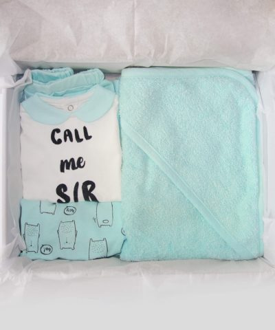 Подаръчна кутия за новородено бебе момче