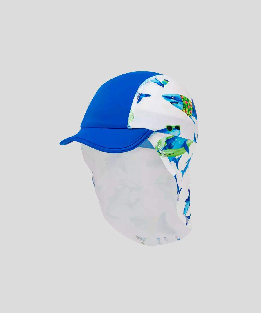 Шапка за плаж с UV защита с акули