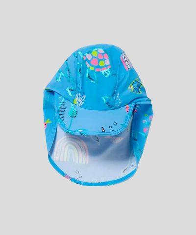 Шапка за плаж с UV защита морско дъно