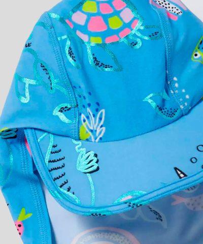 Шапка за плаж с UV защита морско дъно за бебе момиче