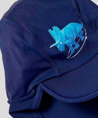 Шапка за плаж с UV защита с динозавър за бебе момче