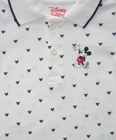 Тениска с яка Мики Маус от био памук за бебета и деца