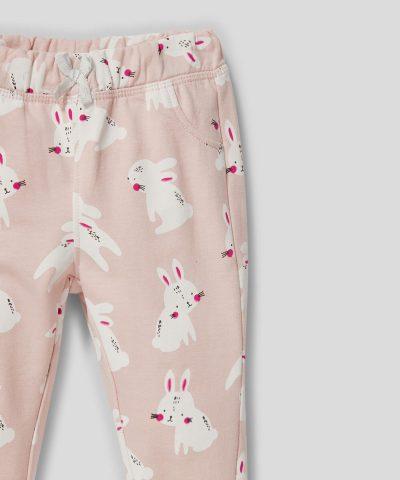 бебешки и детски ватиран панталон със зайчета от био памук
