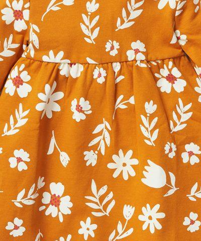 Ватирана рокля от био памук за бебета и деца