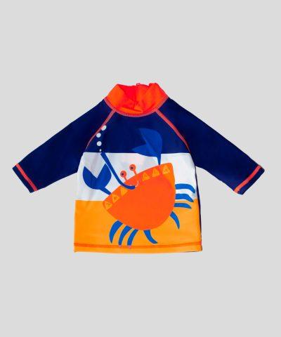 Бански костюм в неон с UV защита за бебе момче