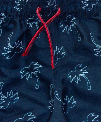 Бански с палмички в тъмносин цвят за бебе момче