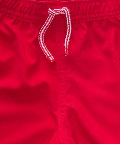 Бански в червен цвят тип шорти за бебе момче