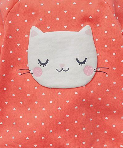 Ватирана блуза с коте от био памук