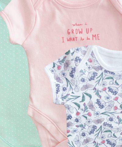 Комплект 3бр бебешки бодита с къс ръкав