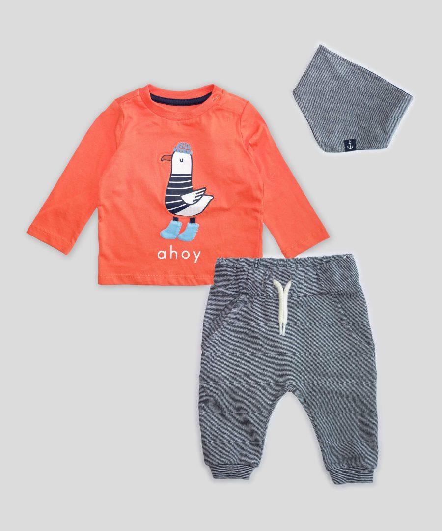 Бебешки Комплект ahoy от био памук за момче