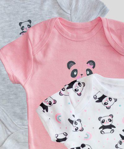 Комплект 3бр бебешки бодита с панди