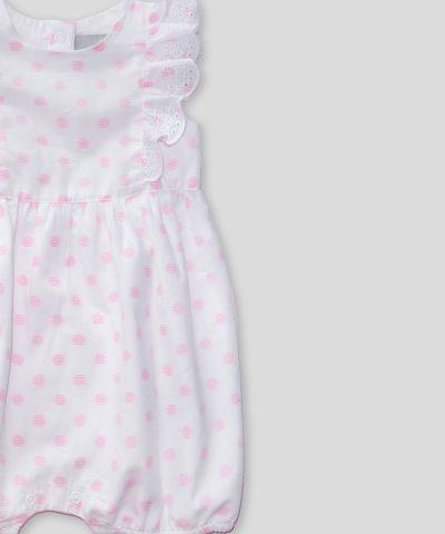 Бебешки летен гащеризон с десен на точки