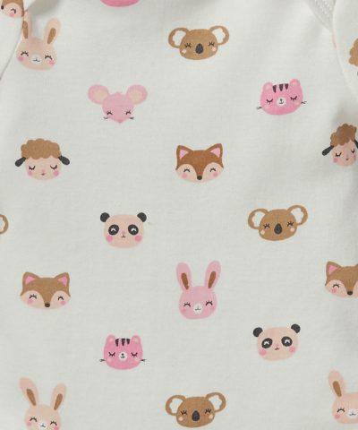 Боди с животинки от био памук