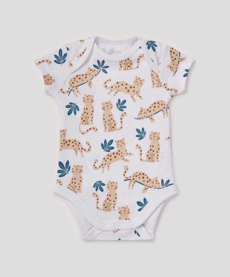 Боди с леопарди от био памук