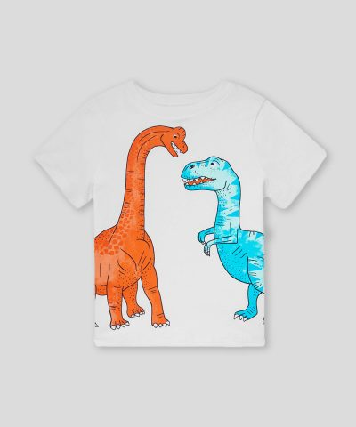 Комплект с динозаври от био памук