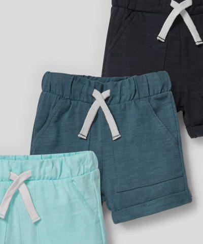 Комплект тънки къси панталонки от био памук