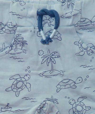 Къси панталонки с морска тематика от био памук