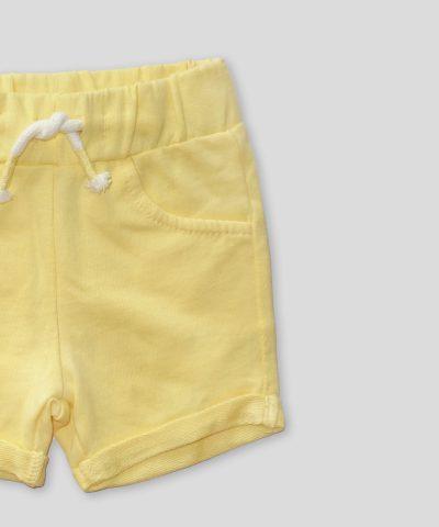 Къси панталонки в жълт цвят от био памук