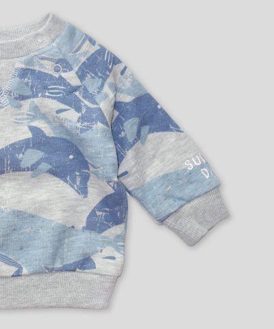 Плътна блуза с делфини