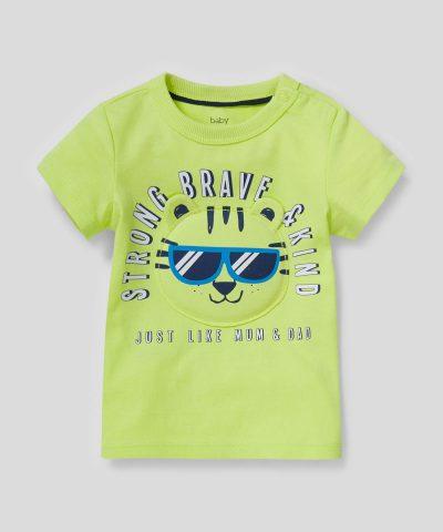 Тениска с 3D тигърче от био памук