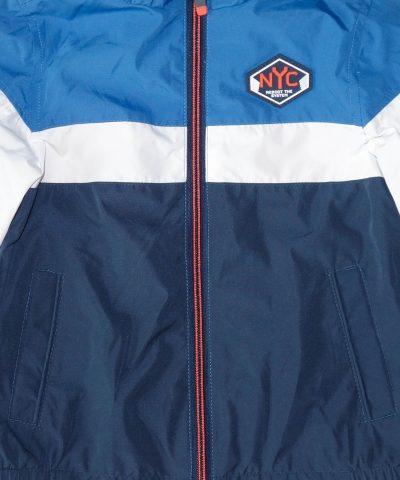 Тънко пролетно яке в синьо и бяло